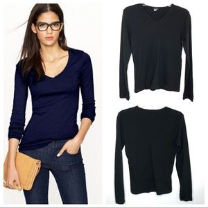J. Crew classic v-neck long sleeve cotton tee